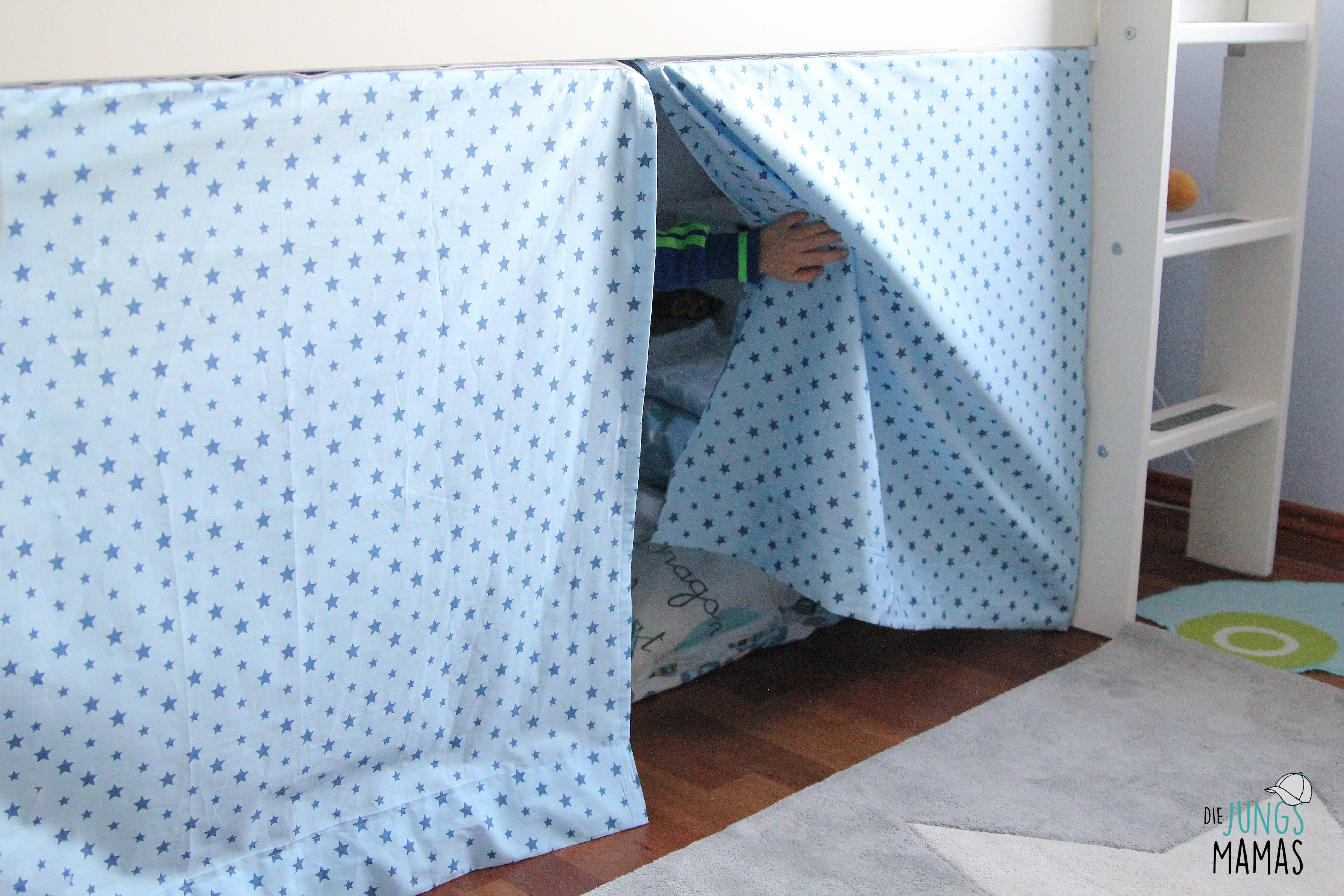 Vorhang Etagenbett Selber Nähen : Diy ein vorhang für die hochbett höhle u jungsmamas
