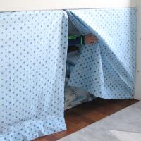 DIY: Ein Vorhang für die Hochbett-Höhle