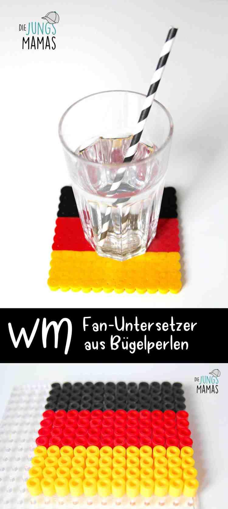 Coole EM bzw. WM Fan-Untersetzer aus Bügelperlen_Die JungsMamas