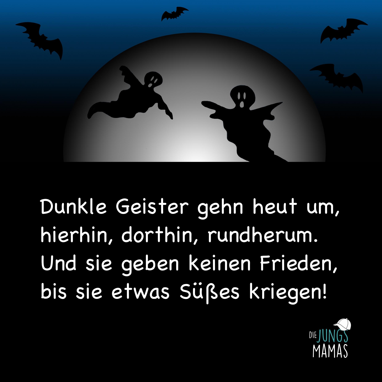 Halloween Spruch Dunkle Geister