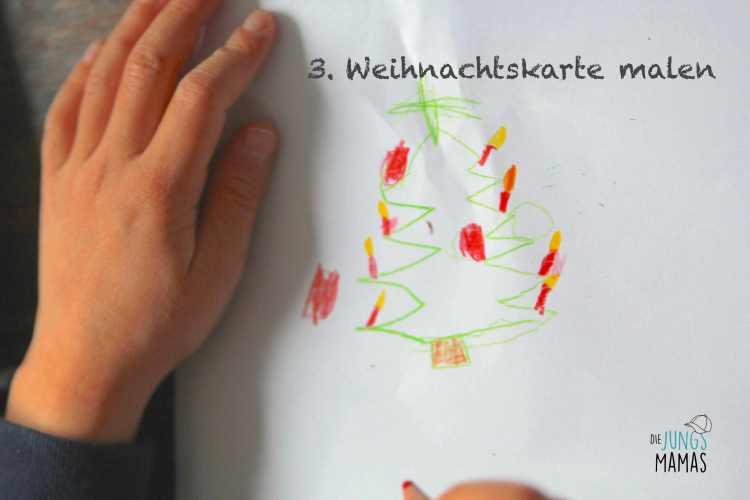Weihnachtspäckchen Aktion_Weihnachtskarte Malen