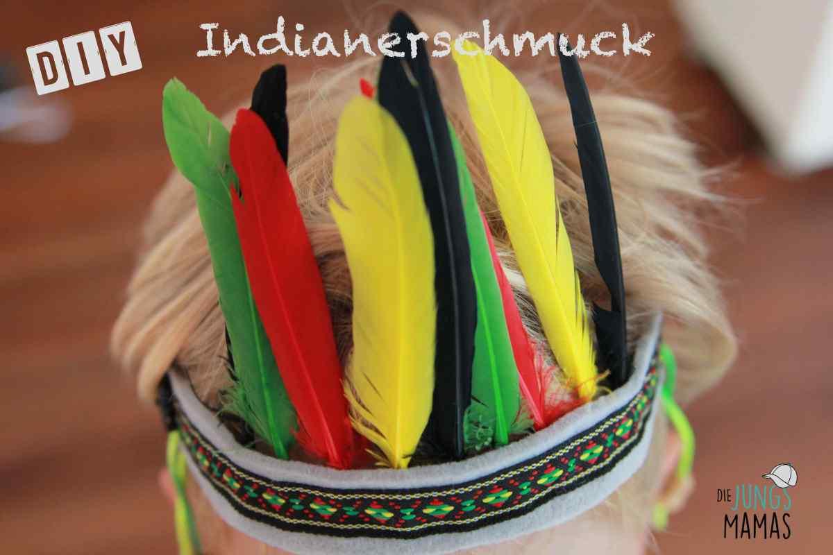 DIY Indianer-Kopfschmuck für das Faschingskostüm
