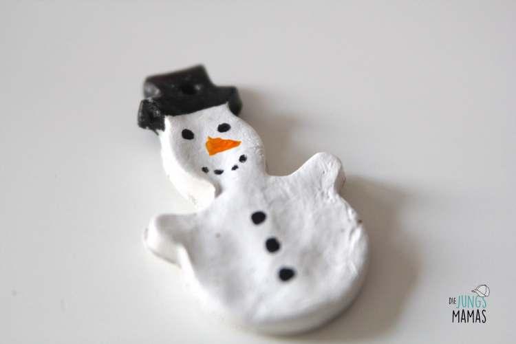 Schneemann aus Fimo