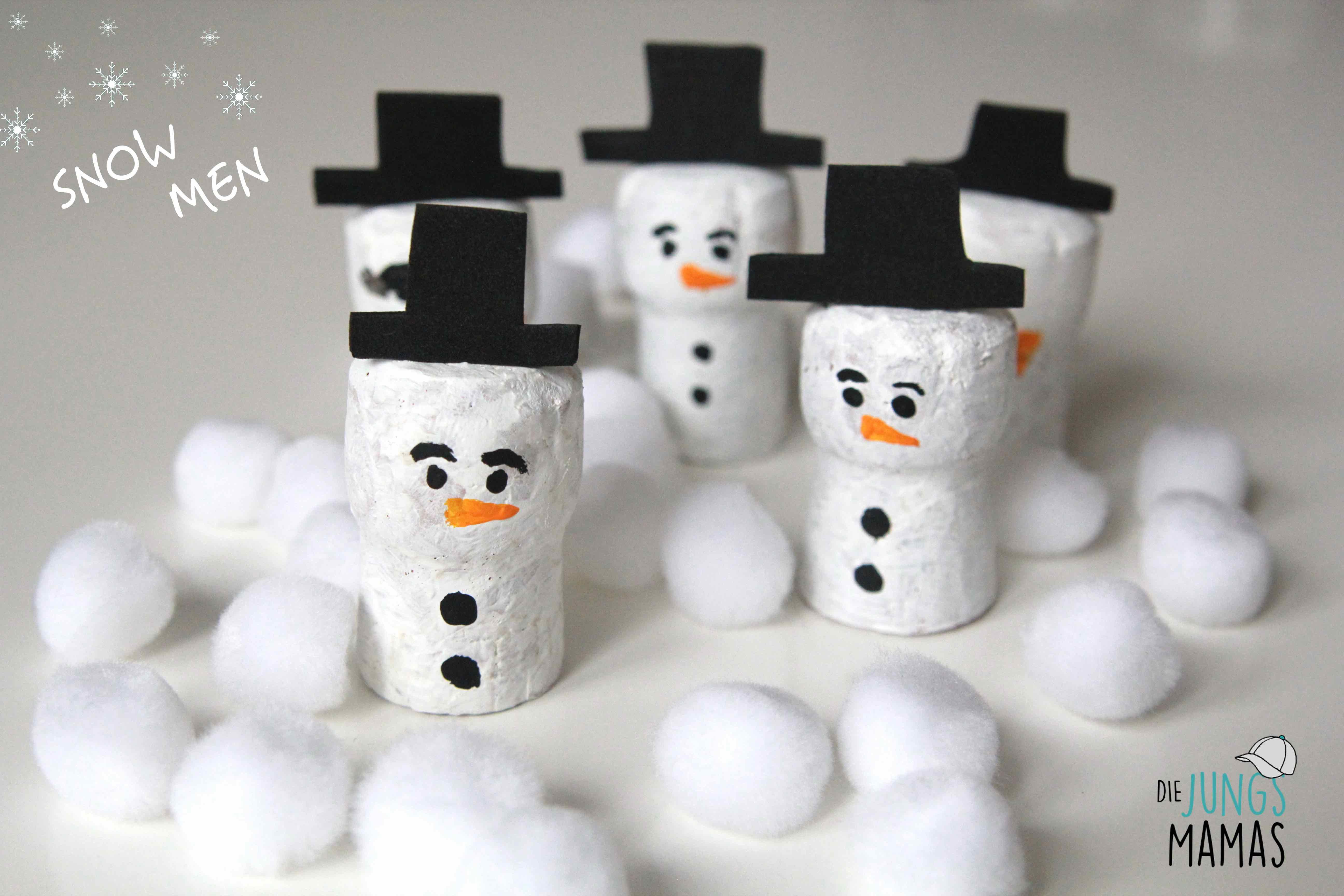Diy 5 Einfache Schneemänner Malen Und Basteln Die Jungsmamas