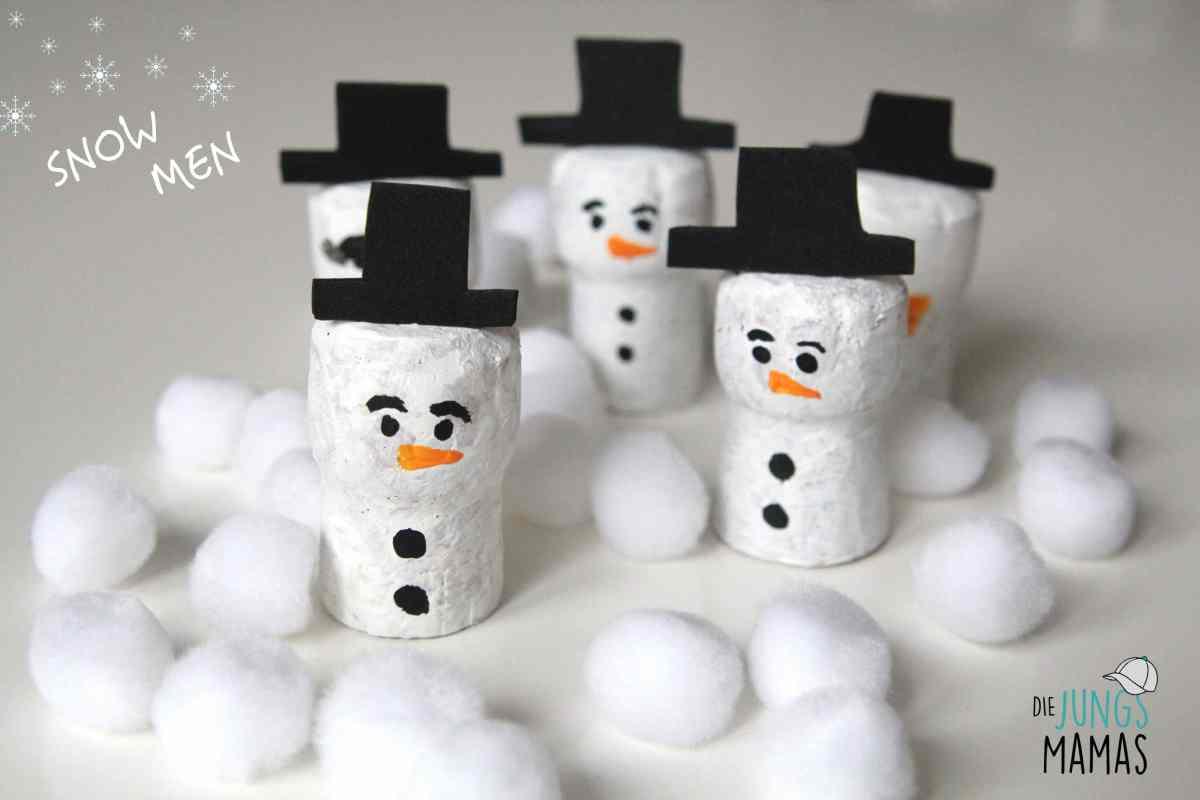 DIY - 5 einfache Schneemänner malen und basteln