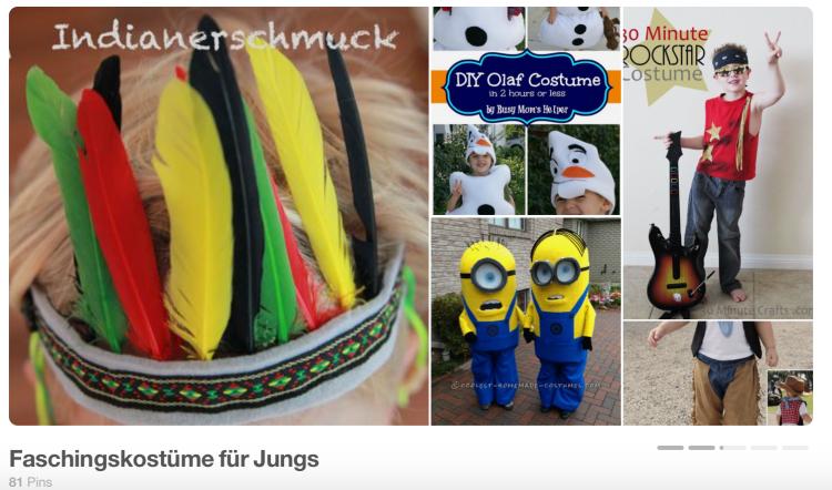 Pinterest-Seite Faschingskostüme für Jungs _ Die JungsMamas