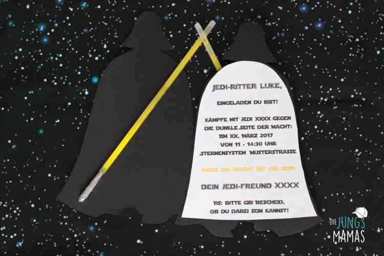 star wars party – einladung (teil 1) – die jungsmamas, Einladung
