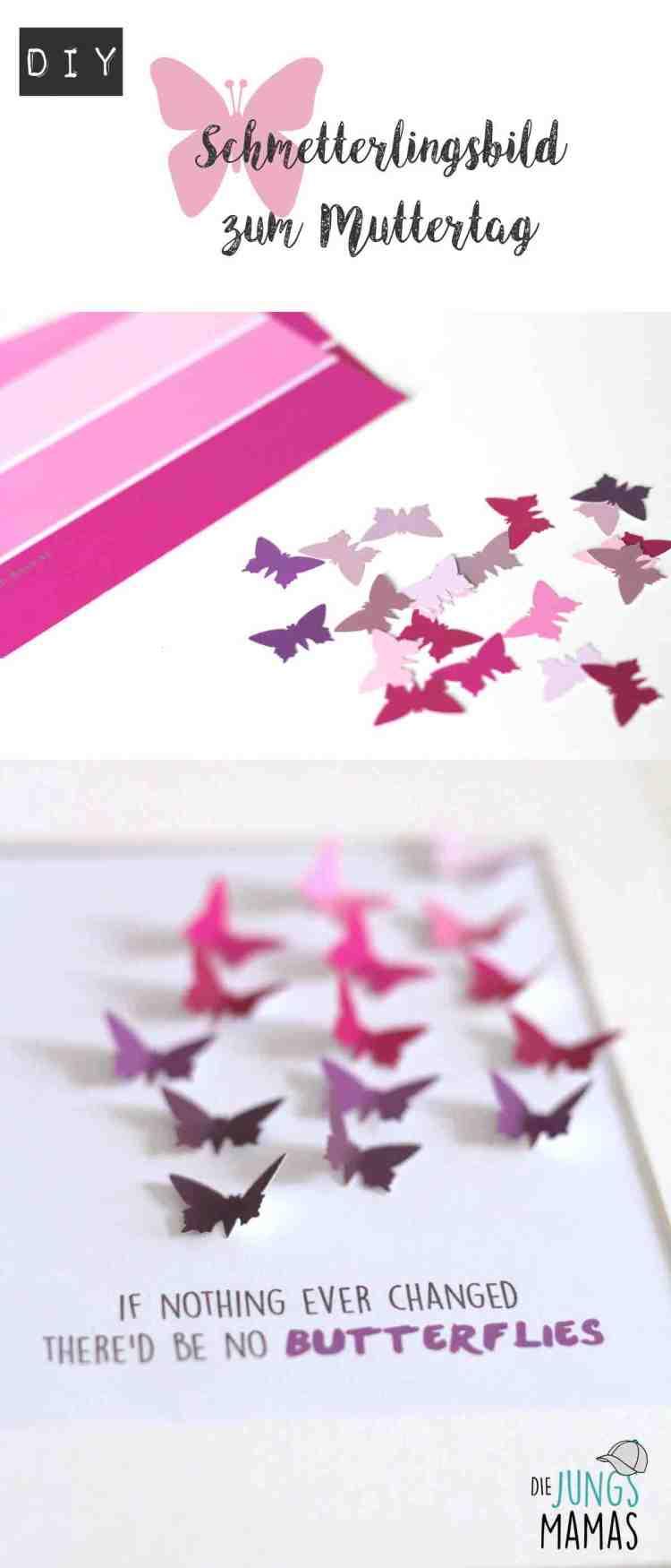 So bastelt Ihr ein schnelles und einfaches Schmetterlings-Bild zum Muttertag _ Die JungsMamas
