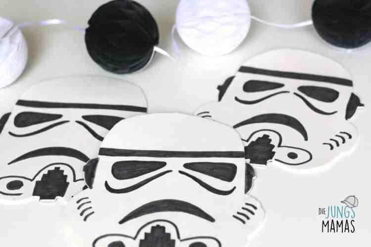 Stormtrooper aus Moosgummi für die Star Wars Deo_Die JungsMamas