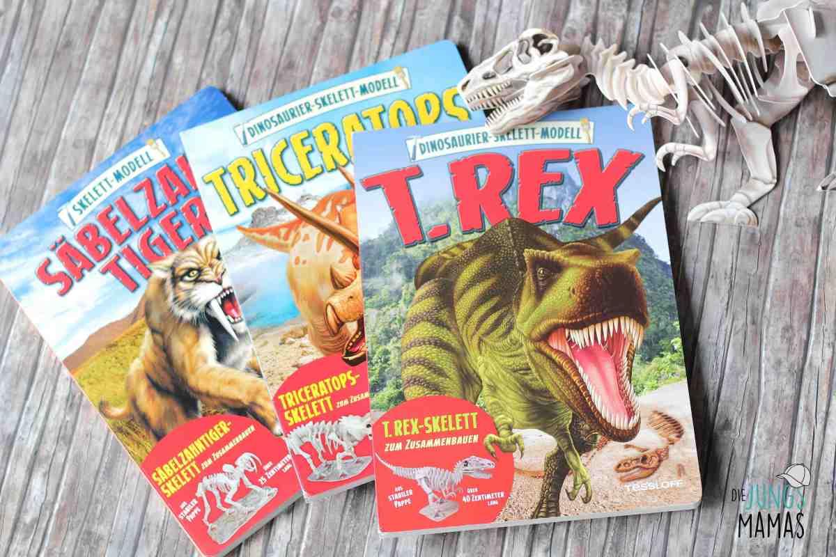 Coole Skelett-Modell-Bücher für kleine Dino-Fans + Gewinnspiel