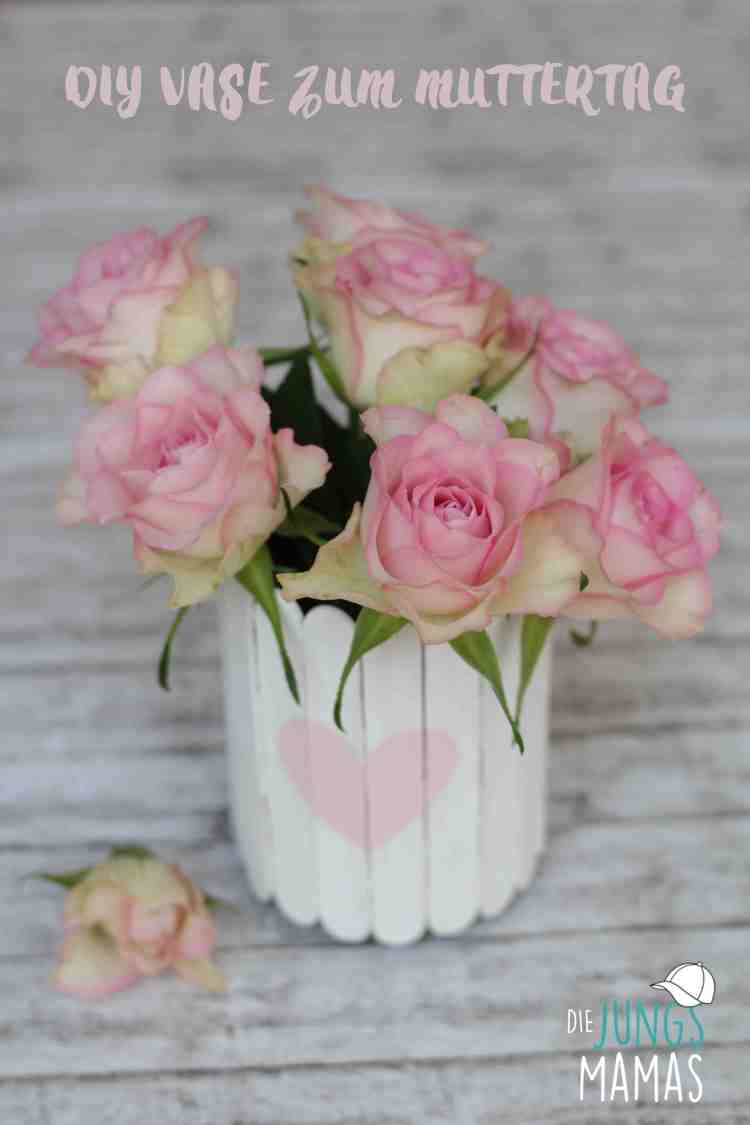 DIY Vase / Upcycling Vase aus Honigglas und Popsicles zum Muttertag _Die JungsMamas