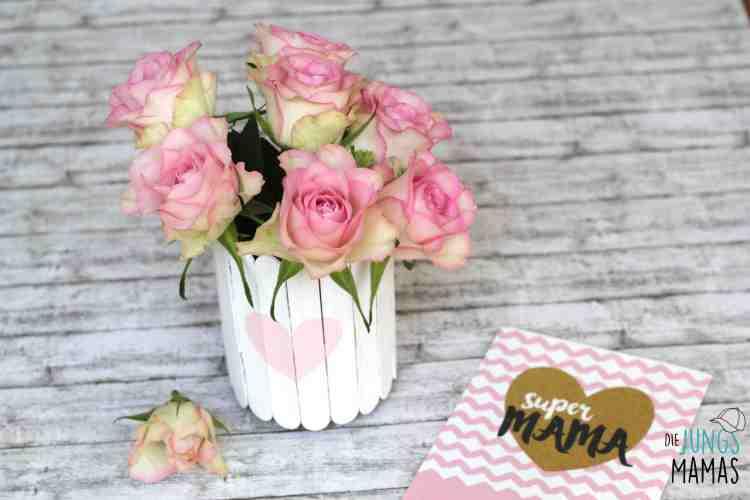 Popsicle Vase zum Muttertag _ Die JungsMamas